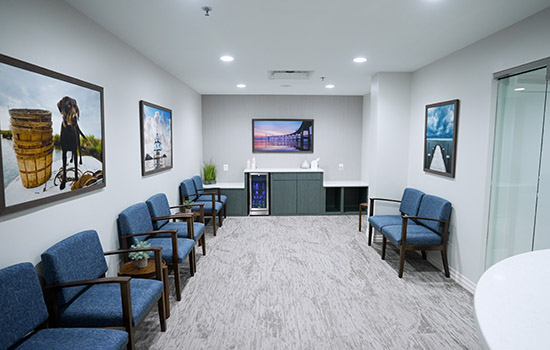 Patient Waiting Area at Bay Hills Family Dentistry in Arnold, Maryland